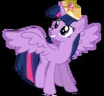 Alicorn twilight w coronation tiara by caliazian-d5w7zoz