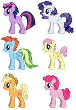 Ponies with Gender Switch Hair