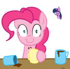 Pinkie Pie and Coffee
