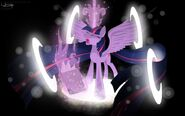 Twilight Sparkle alicorn wallpaper by artist-unnop64
