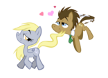 Derpy Hooves and Doctor Whooves in love