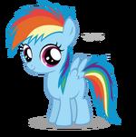 Rainbow Dash Filly by Blackm3sh