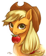 137355 - Applejack artist-angelickitty89 portrait