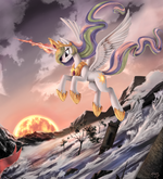 Princess Celestia (The Fallen of Equestria) background wallpaper by artist-ponykillerx