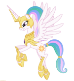 Celestia in armor 2 png by larsurus-d5owicp