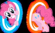 Pinkie Pie in her own portal