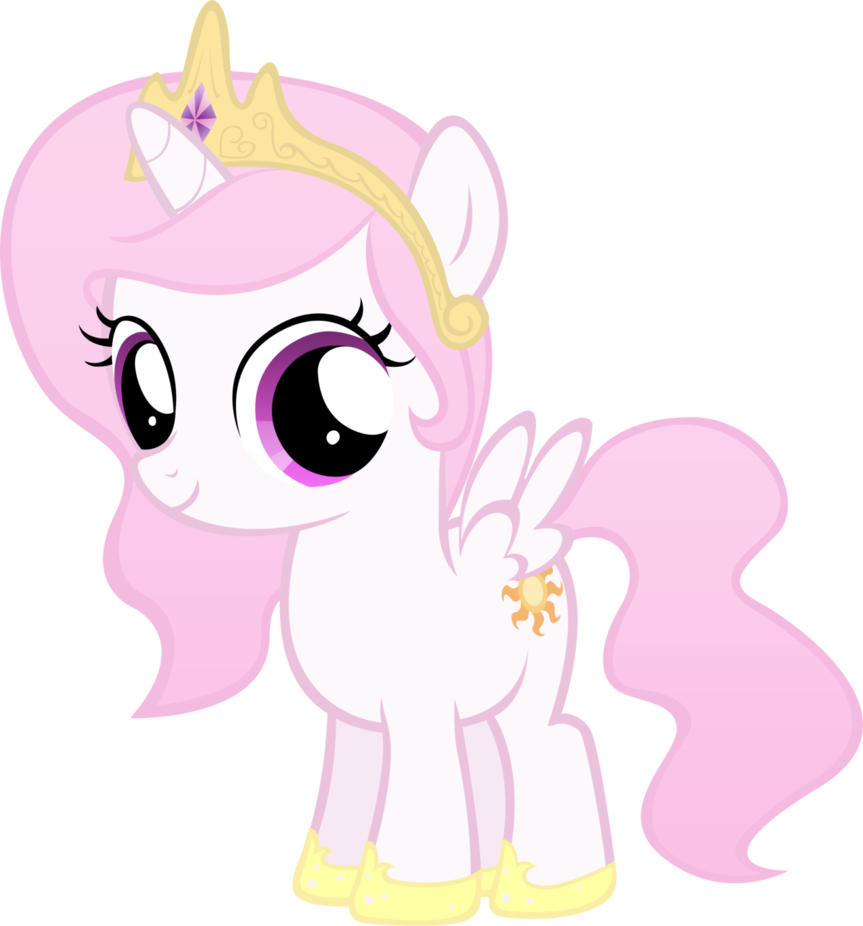 Image  Celestia Filly Except Pink by MoongazePoniespng  My