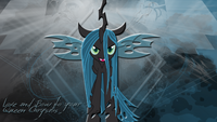 Queen Chrysalis wallpaper by artist-leonbrony