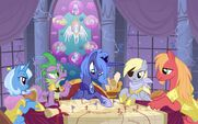 Big Macintosh Derpy Hooves Princess Luna Spike Trixie by artist-Equestria-Prevails