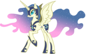 Nightmare Moon with Bon Bon's colors and cutie mark