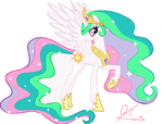 Princess Celestia by artist-untucker