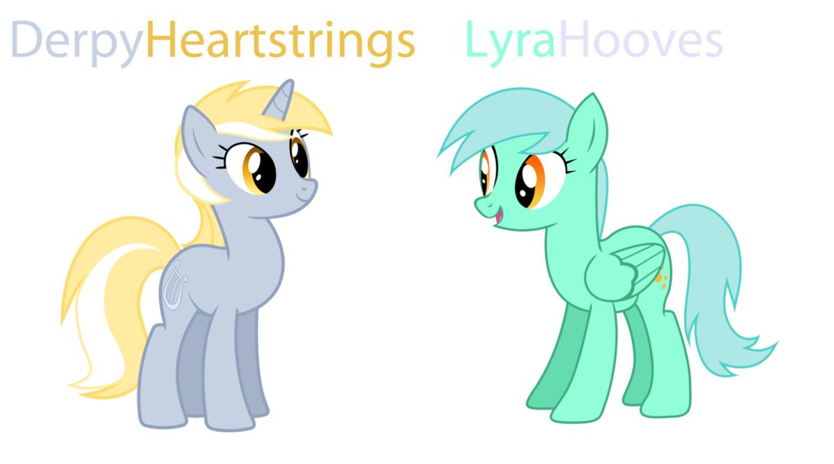 Image - Lyra and Derpy Hooves recolor.png | My Little Pony