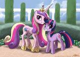 Princess Cadence+Twilight Sparkle