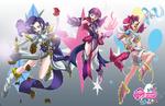 Original costumes magical girls FM comics by mauroz