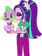 Aria and Spike by xebck