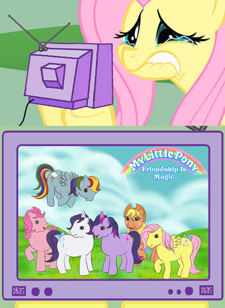 5941 - crying fluttershy fluttershy g1 meme nightmare fuel tv meme