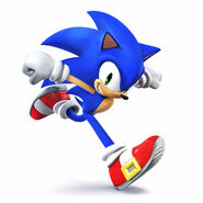 Sonic from Super Smash bros Wii u and 3ds