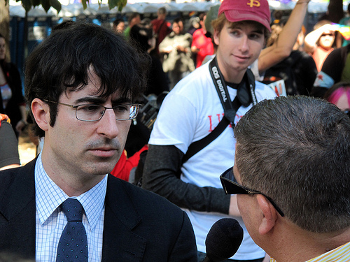 File:The Daily Show's John Oliver interviewing protesters.jpg