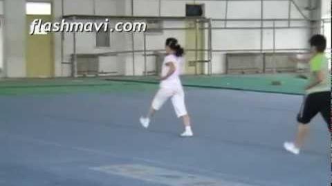Practicing the Wushu Toe Fist Kick