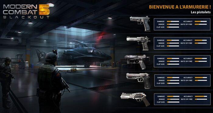 MC5 weapon stats - handguns