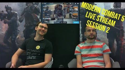 Modern Combat 5 Blackout Gameloft Live Stream Twitch MC5 Session 2