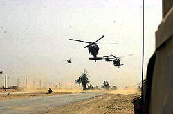 283px-101st Airborne Division helos during Operation Iraqi Freedom