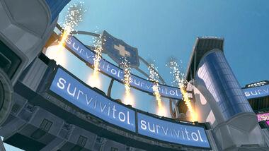 Survivitol Arena sign