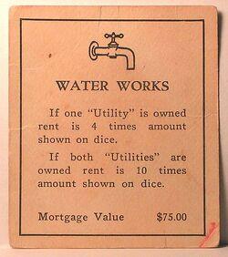 Vintage 1930s Water Works deed