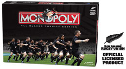 Monopoly All Blacks Rugby box