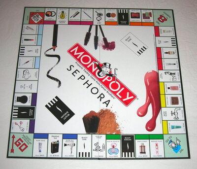 Monopoly Sephora Edition board