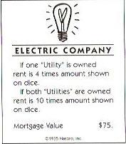 Monopoly Electric Company