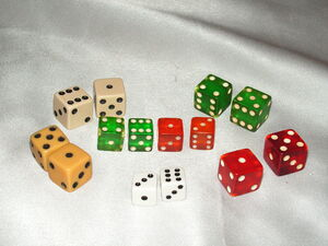 Monopoly dice - 1940s through 1950s