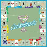 Cocktail-Opoly board