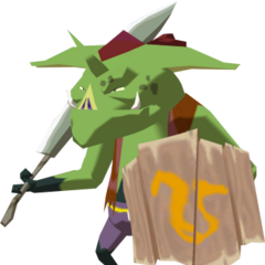 A green Bokoblin from <i>The Wind Waker</i>