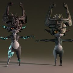 A comparison of the versions of Midna monster.