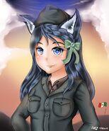 Italian ww2 wolf girl portrait by jay87k-d8edb24