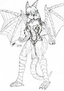 2 danna the dragon amazon by gabrilux-d9gq74z