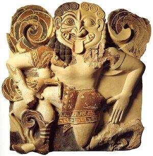 Monster history - Gorgon carving