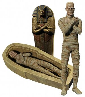 Monster history - mummy figure stockphoto