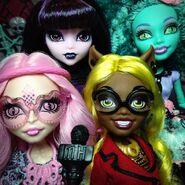 Diorama - four movie faces