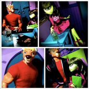 Diorama - Manny and Iris collage