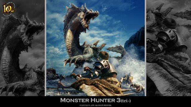 File:MH 10th Anniversary-Monster Hunter 3 Wallpaper 001.jpg