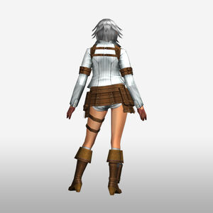 FrontierGen-Lady Armor 002 (Female) (Both) (Back) Render