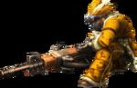 3rdGen-Medium Bowgun Equipment Render 001