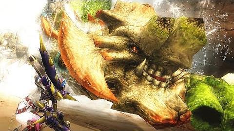 【MHF-G】始種登場!水砦竜『グレアドモス』討伐【グラビモスの祖先?】 フルHD