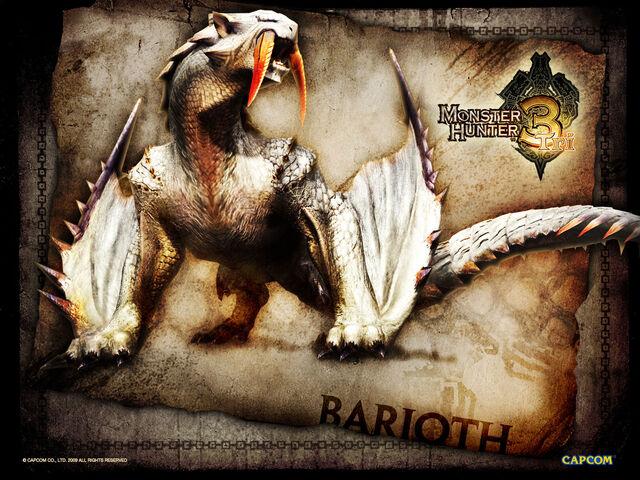 File:Monster Hunter 3 Tri wallpaper Barioth.jpg