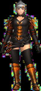 FrontierGen-Espinsu G Armor (Female) (Blademaster) Render 001