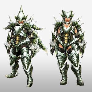 FrontierGen-Berudora Armor (Blademaster) (Front) Render