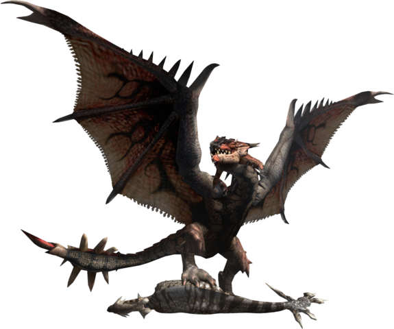 File:MHF2-Rathalos and Aptonoth Render 001.png