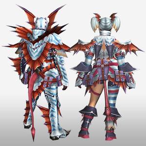 FrontierGen-Puranda G Armor (Blademaster) (Back) Render